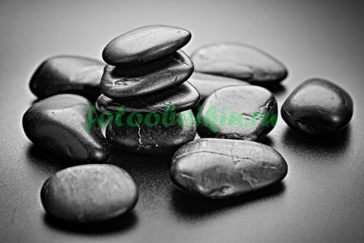 Фотообои Черные гладкие камни