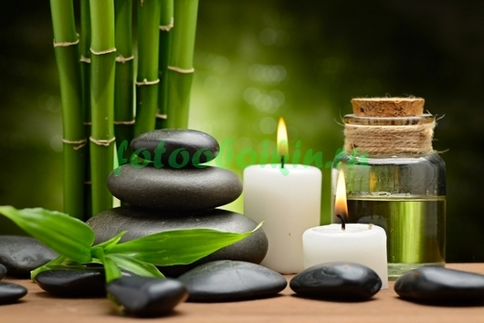 Фотообои Бамбук свечи