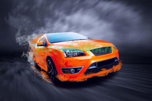 Фотообои Оранжевая машина