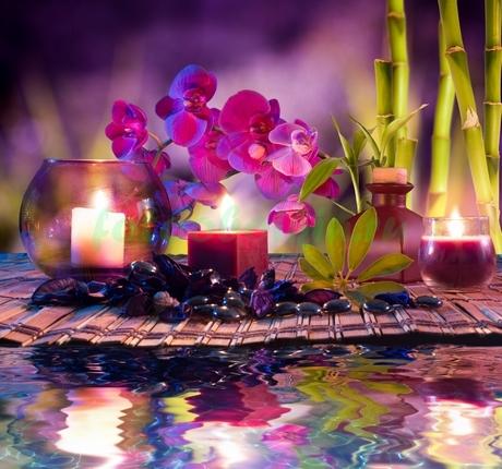 Фотообои Дзен натюрморт в сиреневом цвете