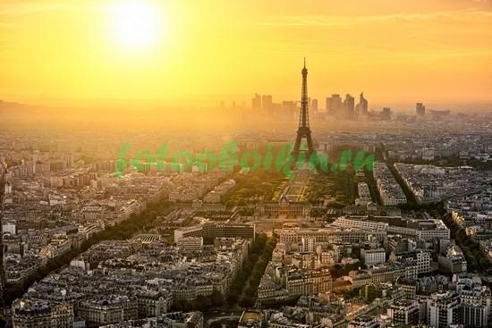 Фотообои Закат над Парижем