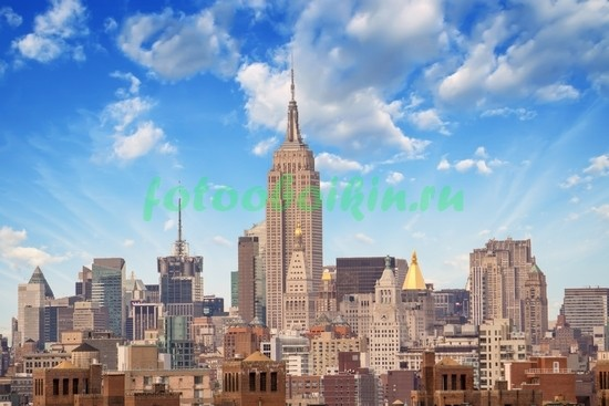 Фотообои Нью-Йорк в хорошую погоду