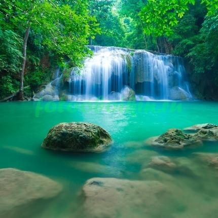 Фотообои Водопад на горной реке