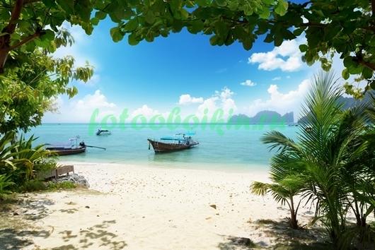 Фотообои Лодки у пляжа