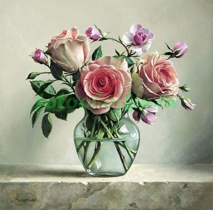 Фотообои Натюрморт с розами