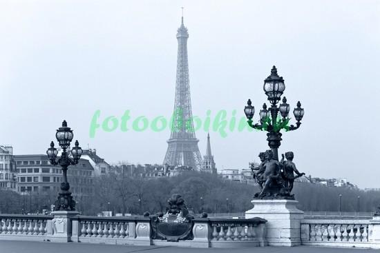 Фотообои Вид на Эйфелеву башню с моста