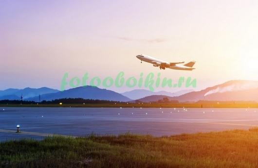 Фотообои Самолет на взлете