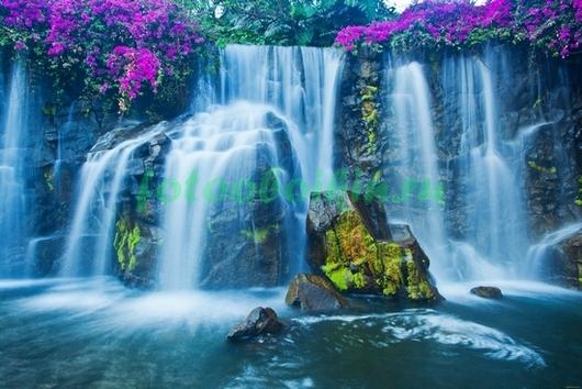 Фотообои Водопад индиго