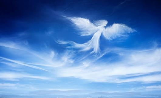 Фотообои Ангел облако