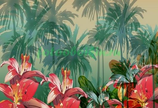 Фотообои Тропические лилии