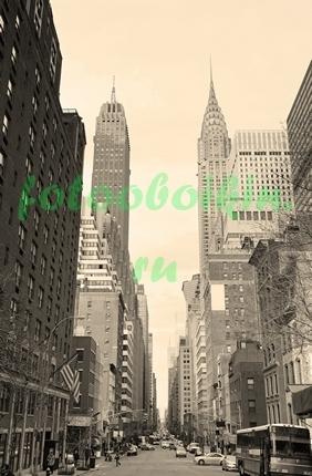 Фотообои Высокие небоскребы Нью-Йорка