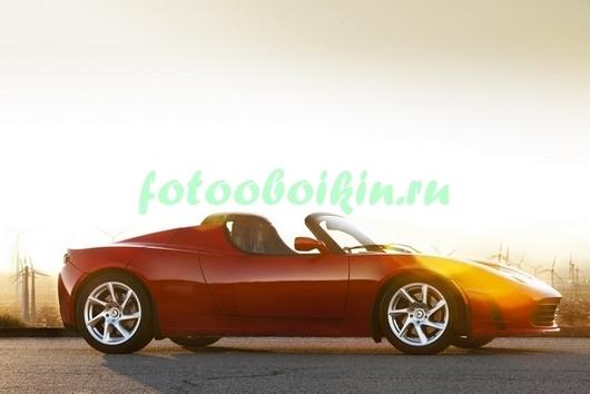 Фотообои Машина на закате