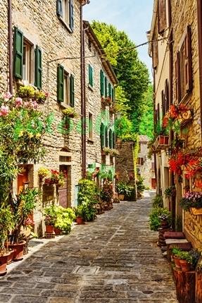Фотообои Цветочная улица в Италии