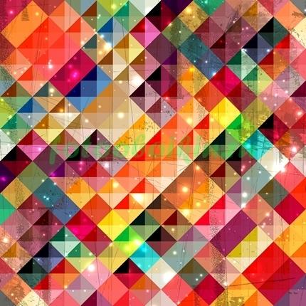 Фотообои Радужные ромбики