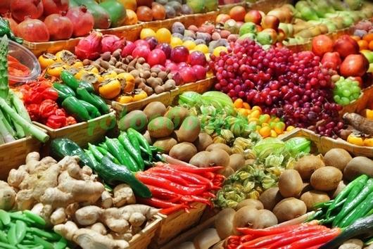 Фотообои Прилавок с овощами