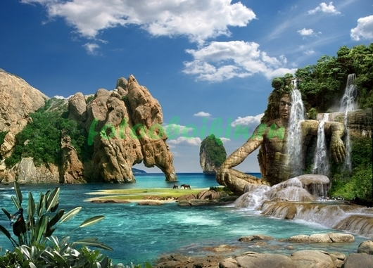 Фотообои Райский водопад