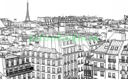 Фотообои Крыши Парижа