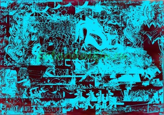 Фотообои Голубое граффити