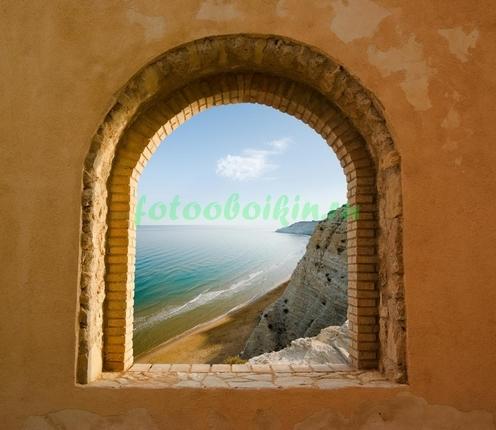 Фотообои Окно с видом на море