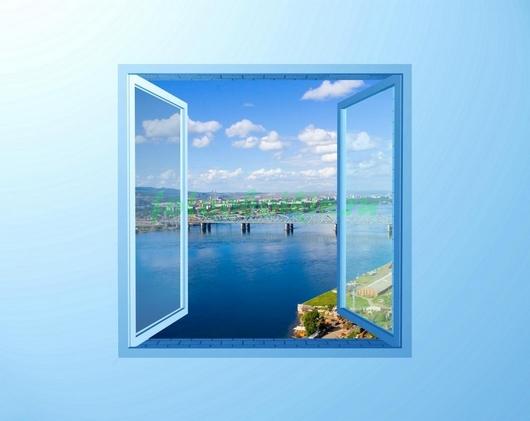 Фотообои Окно с видом на залив