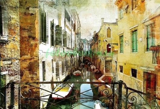 Фотообои Вид на канал в Венеции