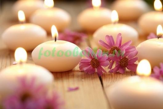 Фотообои Свечи с цветами
