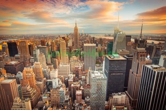 Фотообои Нью-Йорк на закате 3Д