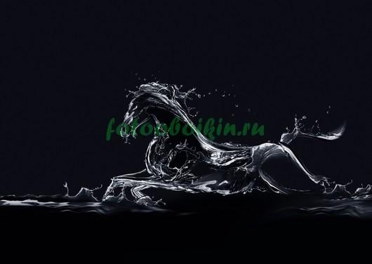 Фотообои Лошадь из воды 3Д