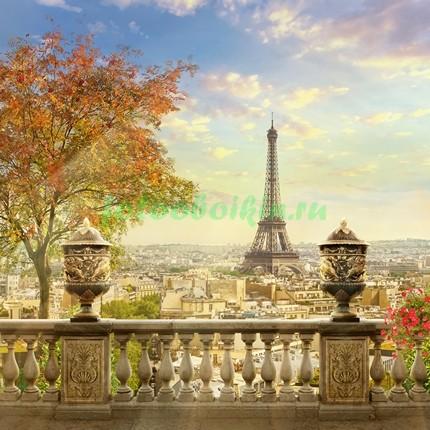 Фотообои Терраса с видом на Париж 3Д