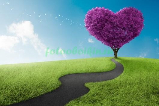 Дерево сердце 3Д