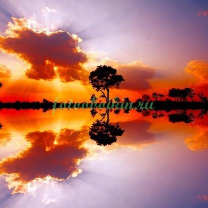 Фотообои Озеро в Африке