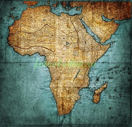Фотообои Карта Африка
