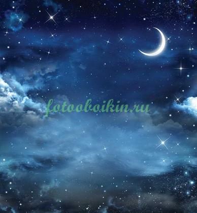 Фотообои Звездное небо с Луной
