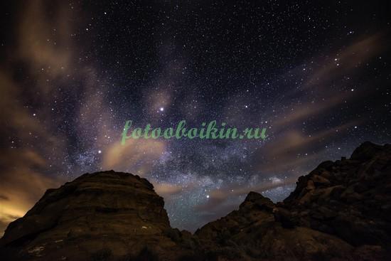 Фотообои Звездное небо в горах
