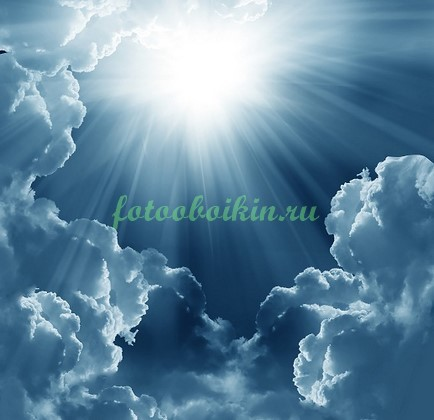 Фотообои Солнце в небе