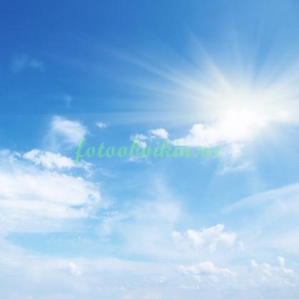 Фотообои Солнце в голубом небе