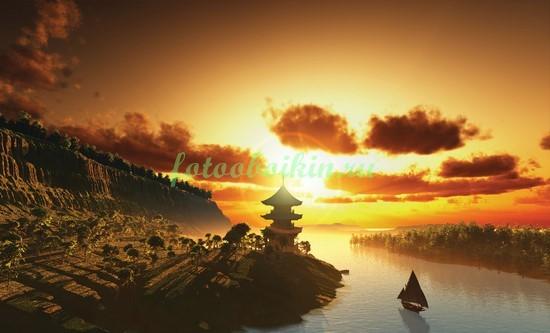 Фотообои Закат в Китае