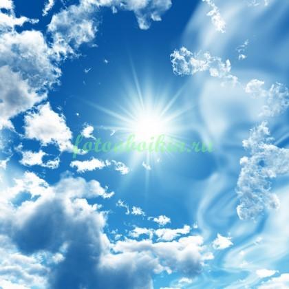 Фотообои Сонце в облачном небе