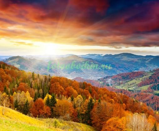 Фотообои Закат в Альпах