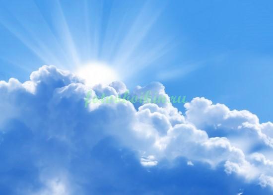 Фотообои Солнце за облаком