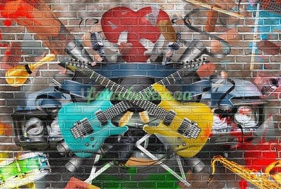 Фотообои Граффити Музыка