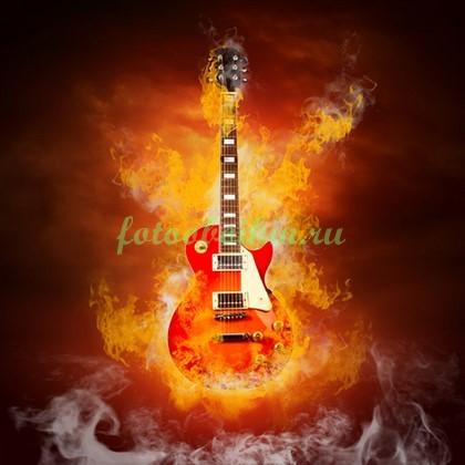 Фотообои Гитара в огне