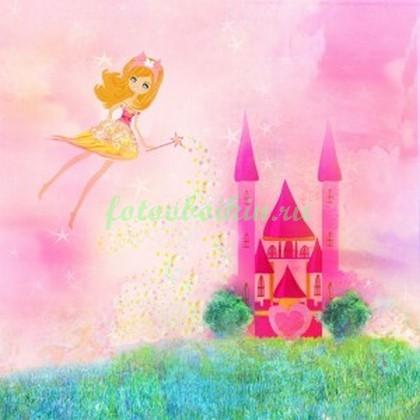 Фотообои Розовый замок принцессы