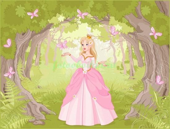 Фотообои Принцесса в парке