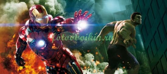 Фотообои Железный человек и Халк