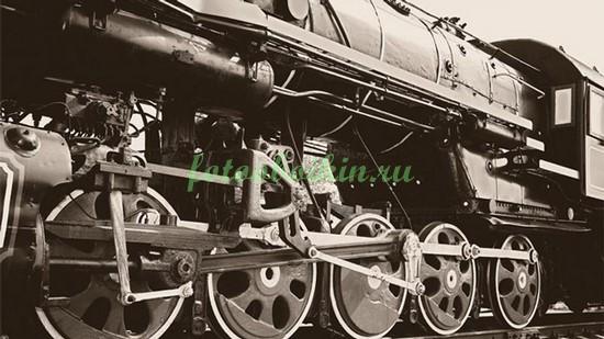 Фотообои Колеса поезда