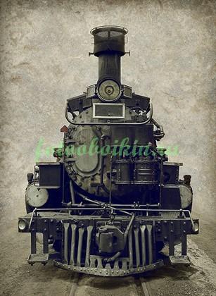 Фотообои Старый паровоз