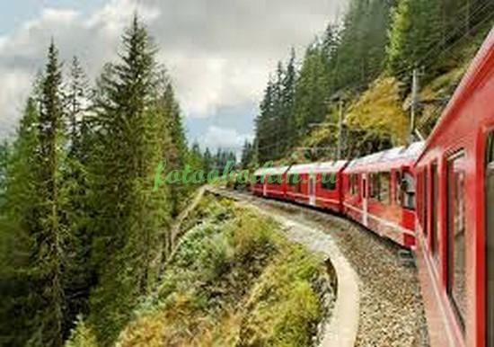Фотообои Поезд на рельсах
