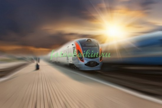 Фотообои Современный поезд