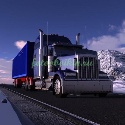 Фотообои 3 Д грузовик